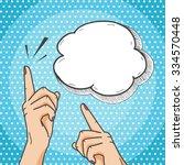pop art comics style hands
