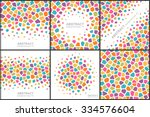 set of abstract colorful... | Shutterstock .eps vector #334576604