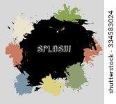 color splash. blot on grey...   Shutterstock .eps vector #334583024
