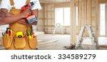 builder handyman with... | Shutterstock . vector #334589279