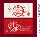 christmas sale design template | Shutterstock .eps vector #334589360