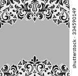 vector lace pattern in eastern... | Shutterstock .eps vector #334590149