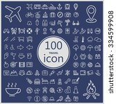 travel concept icons collection ...
