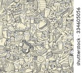 sketchy beer and snacks ...   Shutterstock .eps vector #334605056