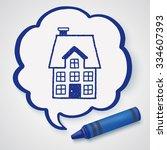 doodle house | Shutterstock .eps vector #334607393