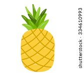 pineapple isolated illustration ... | Shutterstock .eps vector #334610993