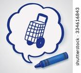 doodle shopping cart | Shutterstock .eps vector #334616843