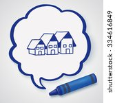 doodle house | Shutterstock .eps vector #334616849