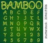 bamboo alphabet  vector art and ...   Shutterstock .eps vector #334619306