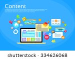 laptop digital content web site ... | Shutterstock .eps vector #334626068