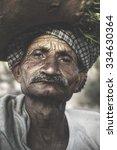 indigenous senior indian man...   Shutterstock . vector #334630364