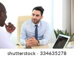 image of two young businessmen... | Shutterstock . vector #334635278
