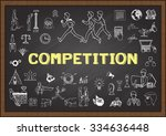 doodle about competition on... | Shutterstock .eps vector #334636448