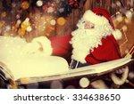 Santa Claus Reading Magic Book...