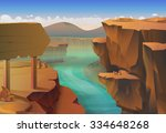 canyon  nature vector background | Shutterstock .eps vector #334648268