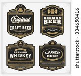 vintage frame design for labels ... | Shutterstock .eps vector #334650416