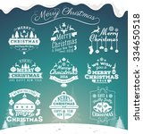 set of christmas decoration... | Shutterstock .eps vector #334650518
