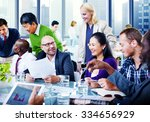 business people team teamwork... | Shutterstock . vector #334656929
