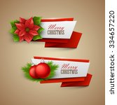 christmas banners set. vector... | Shutterstock .eps vector #334657220