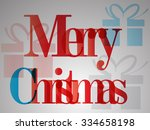 merry christmas. abstract... | Shutterstock .eps vector #334658198
