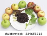 rice berry and fruit | Shutterstock . vector #334658318