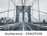 new york city brooklyn bridge... | Shutterstock . vector #334659248