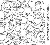 seamless background. fruit.... | Shutterstock .eps vector #334669868