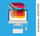 online bookstore design  vector ... | Shutterstock .eps vector #334672598