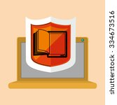 online bookstore design  vector ... | Shutterstock .eps vector #334673516