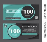 black friday gift voucher...   Shutterstock .eps vector #334678088