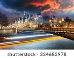 paris city hall at night  ...