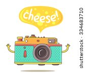 cute camera and the inscription ... | Shutterstock .eps vector #334683710