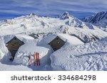 Alpine Scenery With Snow...