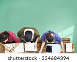 students studying learning... | Shutterstock . vector #334684394