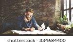 businessman determine ideas...   Shutterstock . vector #334684400