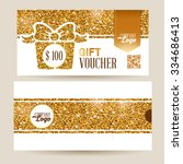 gift voucher template with... | Shutterstock .eps vector #334686413