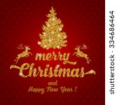 luxury christmas and new year... | Shutterstock .eps vector #334686464