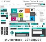 web design vector elements set   Shutterstock .eps vector #334688339