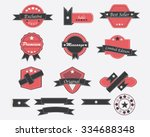 set of vintage promotion label... | Shutterstock .eps vector #334688348