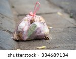 close up of garbage held in a... | Shutterstock . vector #334689134