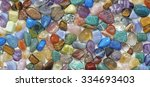 multicolored tumbled crystal... | Shutterstock . vector #334693403