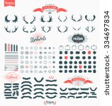 huge premium design elements.... | Shutterstock .eps vector #334697834