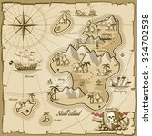treasure island vector map in...