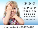 cute little girl reviewing... | Shutterstock . vector #334704908