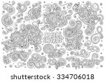 sketchy vector hand drawn... | Shutterstock .eps vector #334706018