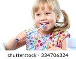 close up portrait of cute five...   Shutterstock . vector #334706324