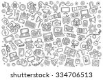 sketchy vector hand drawn... | Shutterstock .eps vector #334706513
