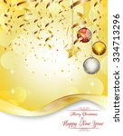 merry christmas and happy new... | Shutterstock .eps vector #334713296