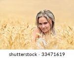 young beautiful woman in golden ... | Shutterstock . vector #33471619