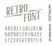 decorative retro alphabet font. ... | Shutterstock .eps vector #334716194